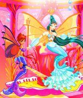 Винкс русалки в картинках и рыбки и игра золотая рыбка!